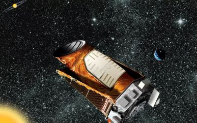 kepler space telescope renditon by an artist