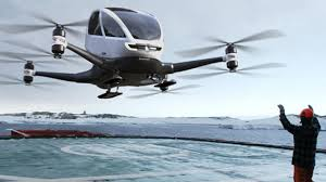 Ehang's drone taxi boasts 40 successful journeys flying passengers autonomously. Google Images